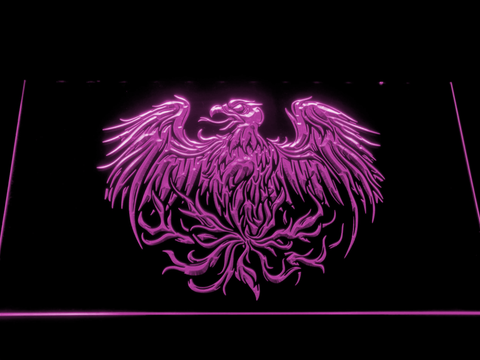 Image of A Day to Remember Eagle LED Neon Sign - Purple - SafeSpecial