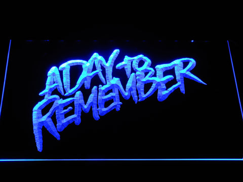Image of A Day to Remember Homesick LED Neon Sign - Blue - SafeSpecial