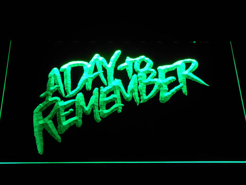 Image of A Day to Remember Homesick LED Neon Sign - Green - SafeSpecial