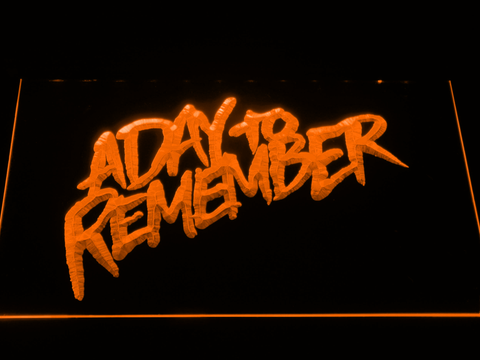 Image of A Day to Remember Homesick LED Neon Sign - Orange - SafeSpecial