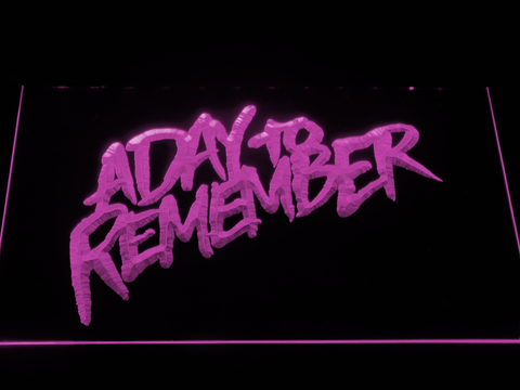 Image of A Day to Remember Homesick LED Neon Sign - Purple - SafeSpecial