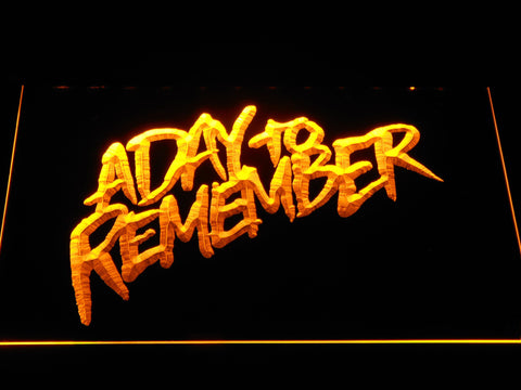 A Day to Remember Homesick LED Neon Sign - Yellow - SafeSpecial
