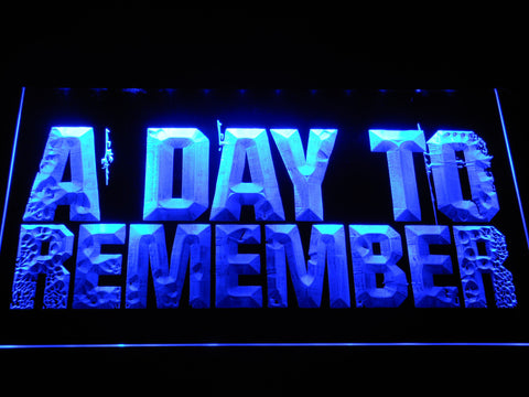 A Day to Remember LED Neon Sign - Blue - SafeSpecial