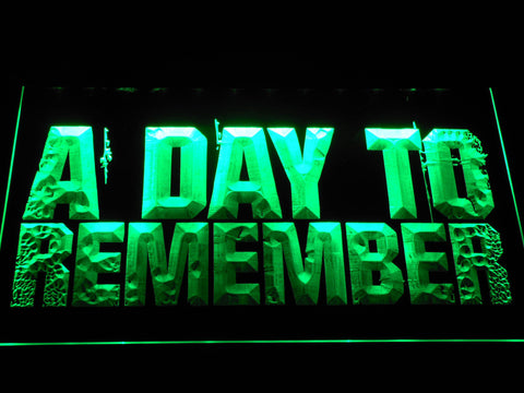 Image of A Day to Remember LED Neon Sign - Green - SafeSpecial
