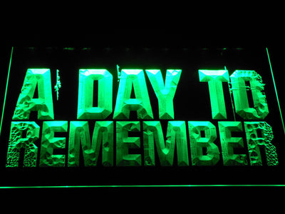 A Day to Remember LED Neon Sign - Green - SafeSpecial