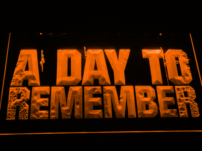 A Day to Remember LED Neon Sign - Orange - SafeSpecial