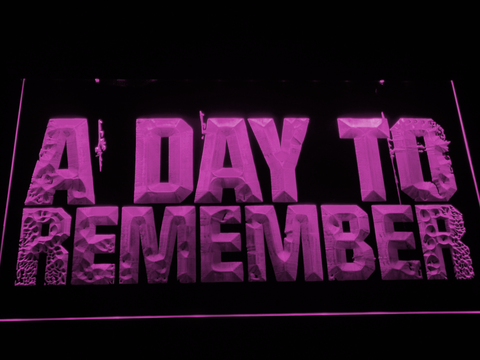 Image of A Day to Remember LED Neon Sign - Purple - SafeSpecial