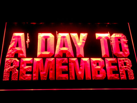 Image of A Day to Remember LED Neon Sign - Red - SafeSpecial