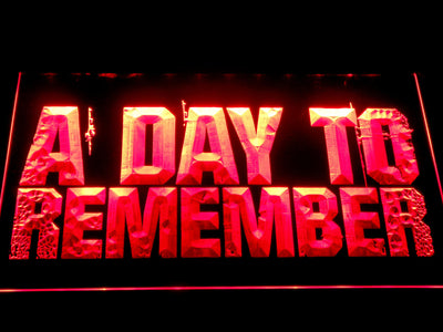 A Day to Remember LED Neon Sign - Red - SafeSpecial