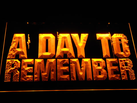 A Day to Remember LED Neon Sign - Yellow - SafeSpecial