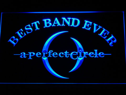 Image of A Perfect Circle Best Band Ever LED Neon Sign - Blue - SafeSpecial