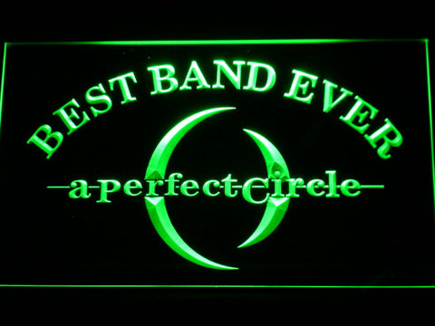 Image of A Perfect Circle Best Band Ever LED Neon Sign - Green - SafeSpecial