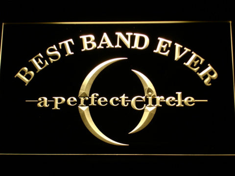 Image of A Perfect Circle Best Band Ever LED Neon Sign - Yellow - SafeSpecial