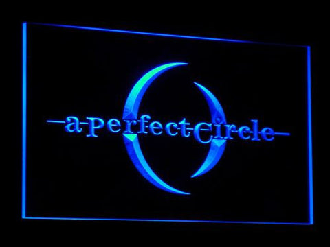 A Perfect Circle LED Neon Sign - Blue - SafeSpecial