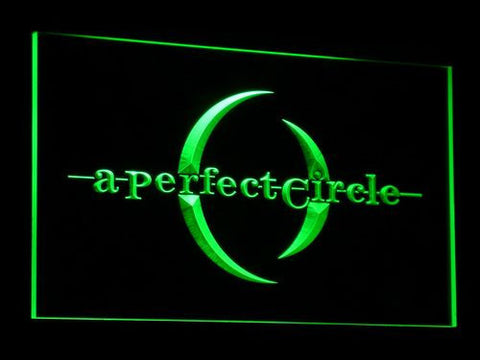 A Perfect Circle LED Neon Sign - Green - SafeSpecial