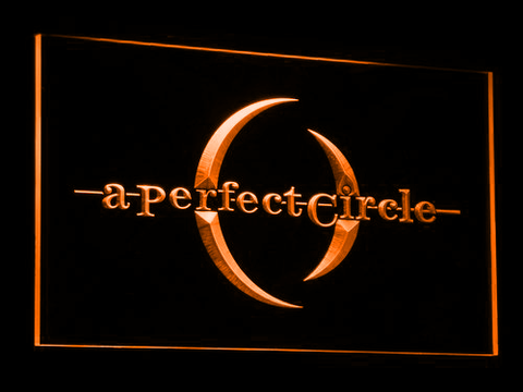 Image of A Perfect Circle LED Neon Sign - Orange - SafeSpecial