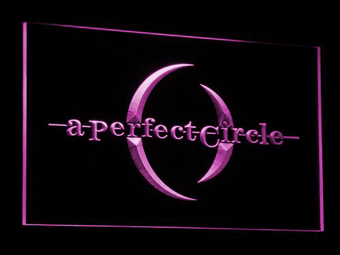 A Perfect Circle LED Neon Sign - Purple - SafeSpecial