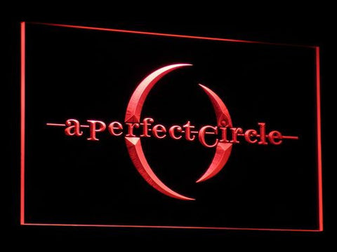 A Perfect Circle LED Neon Sign - Red - SafeSpecial