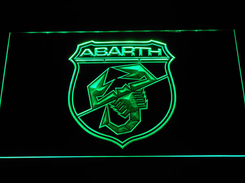 Image of Abarth LED Neon Sign - Green - SafeSpecial