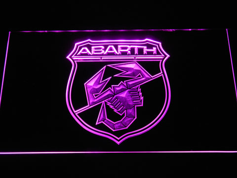 Image of Abarth LED Neon Sign - Purple - SafeSpecial
