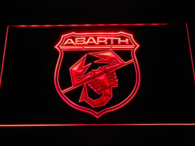 Abarth LED Neon Sign - Red - SafeSpecial
