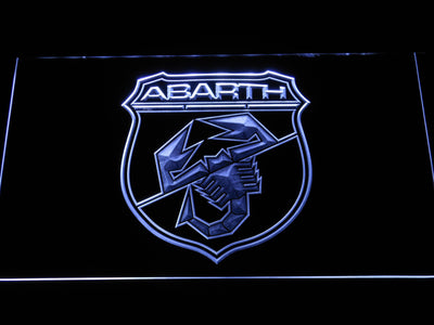 Abarth LED Neon Sign - White - SafeSpecial