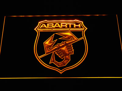 Abarth LED Neon Sign - Yellow - SafeSpecial