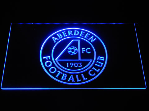 Image of Aberdeen F.C. LED Neon Sign - Blue - SafeSpecial
