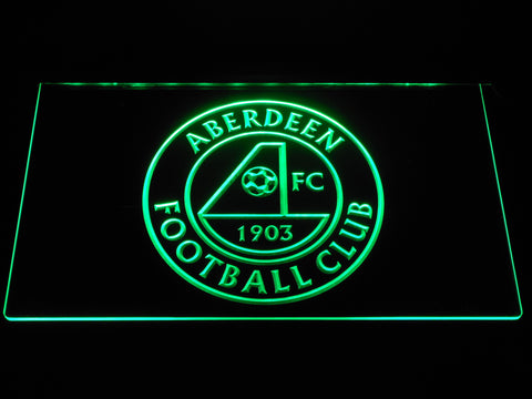 Aberdeen F.C. LED Neon Sign - Green - SafeSpecial