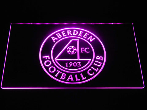 Image of Aberdeen F.C. LED Neon Sign - Purple - SafeSpecial