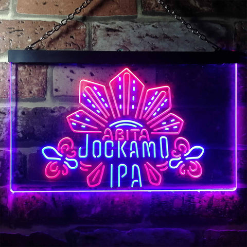 Abita Beer Jockamo IPA Neon-Like LED Sign - Dual Color