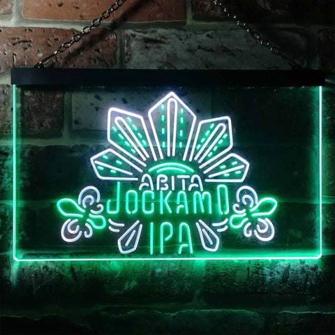 Image of Abita Beer Jockamo IPA Neon-Like LED Sign - Dual Color