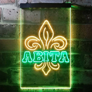 Abita Beer Spade Neon-Like LED Sign - Dual Color