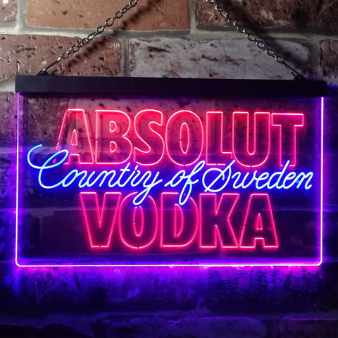 Absolut Vodka Country Of Sweden Neon-Like LED Sign - Dual Color