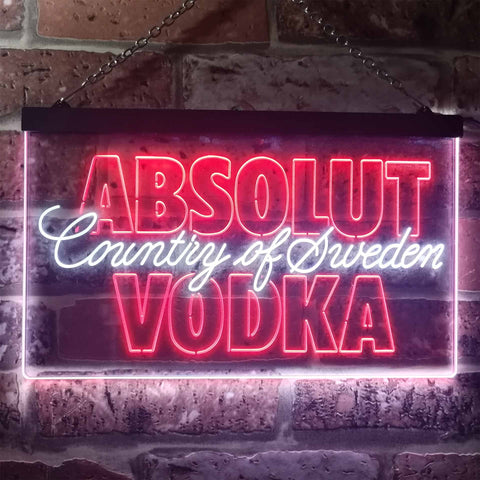 Image of Absolut Vodka Country Of Sweden Neon-Like LED Sign - Dual Color