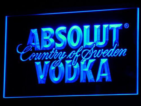 Image of Absolut Vodka LED Neon Sign - Blue - SafeSpecial