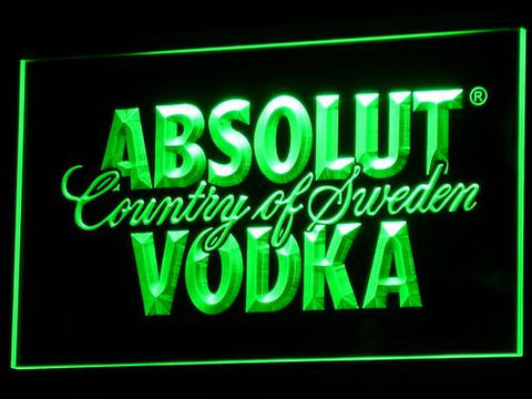 Image of Absolut Vodka LED Neon Sign - Green - SafeSpecial