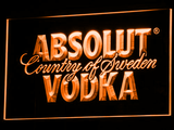 Absolut Vodka LED Neon Sign - Orange - SafeSpecial