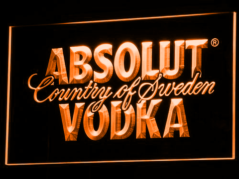 Image of Absolut Vodka LED Neon Sign - Orange - SafeSpecial