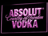 Absolut Vodka LED Neon Sign - Purple - SafeSpecial