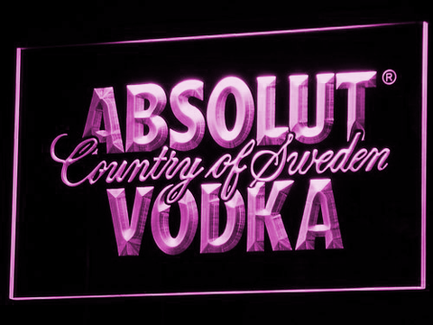 Image of Absolut Vodka LED Neon Sign - Purple - SafeSpecial