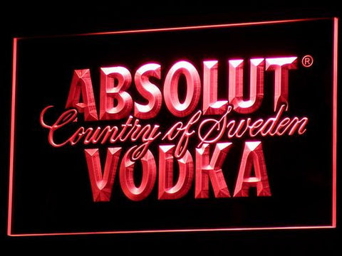 Image of Absolut Vodka LED Neon Sign - Red - SafeSpecial