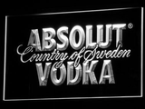 Absolut Vodka LED Neon Sign - White - SafeSpecial