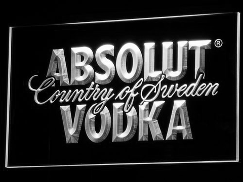 Image of Absolut Vodka LED Neon Sign - White - SafeSpecial
