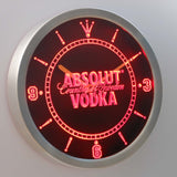 Absolut Vodka LED Neon Wall Clock - Red - SafeSpecial