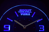 Absolut Vodka Modern LED Neon Wall Clock - Blue - SafeSpecial