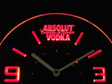 Absolut Vodka Modern LED Neon Wall Clock - Red - SafeSpecial