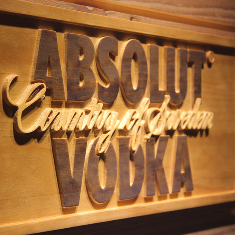 Absolut Vodka Wooden Sign - - SafeSpecial