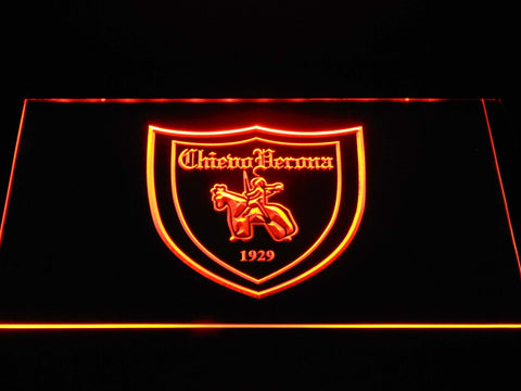 Image of A.C. Chievo Verona LED Neon Sign - Orange - SafeSpecial