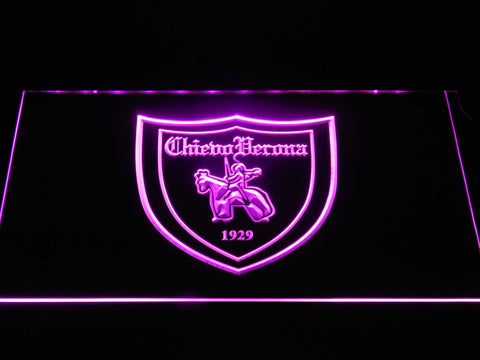 Image of A.C. Chievo Verona LED Neon Sign - Purple - SafeSpecial